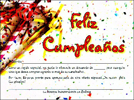 spanish literature, Birthday card